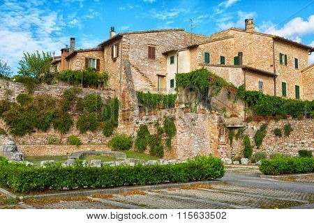 Streets Of The Ancient City Of Spello, Umbria, Italy