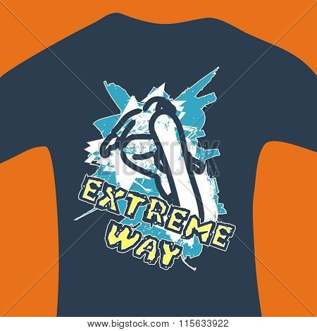 Extreme way - vector print for sweatshirt