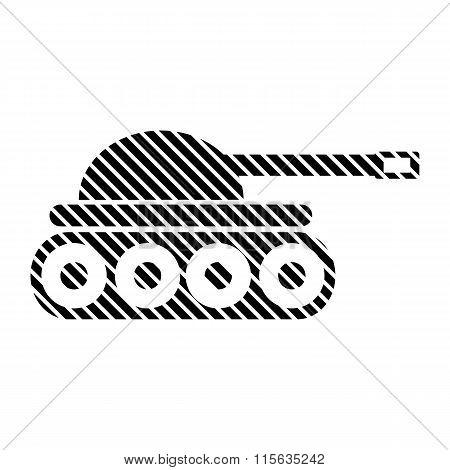 Panzer Sign On White.