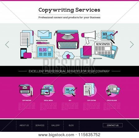 Copywriting And Editing Web Template