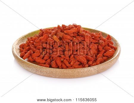 The Dried Fruit Of Medlar On White Background