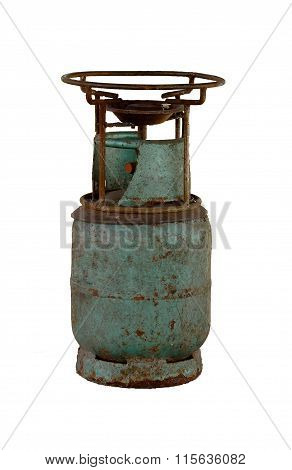 Old  Gas Container Isolated On White Background