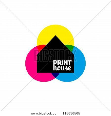 Printing icon print-house ink symbol design