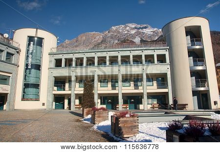 Bormio, Italy - January 6, 2016: Terme In Bormio On 6 January 20