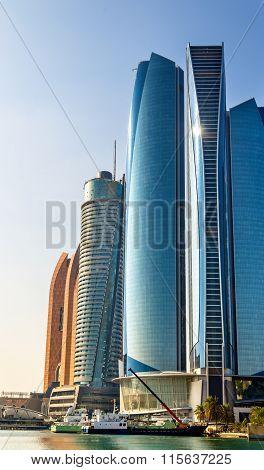Cluster Of Skyscrapers In Abu Dhabi, Uae
