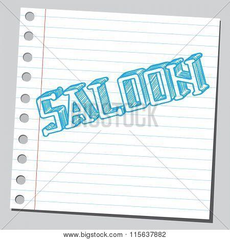 Saloon word