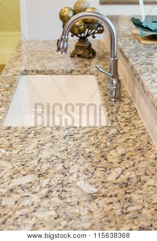 New Sink in Granite Countertop