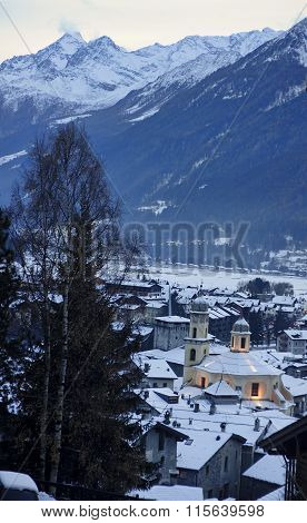 Historic Buildings In The Town Of Bormio