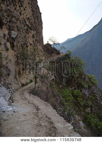 Route Of Choquequirao Trekking In Peru