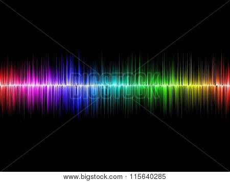 Rainbow Soundwave With Black Background
