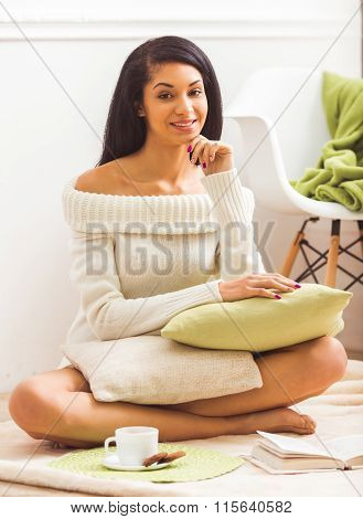 Beautiful African American Women At Home