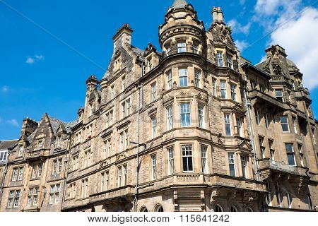Victorian buildings in Edinburgh