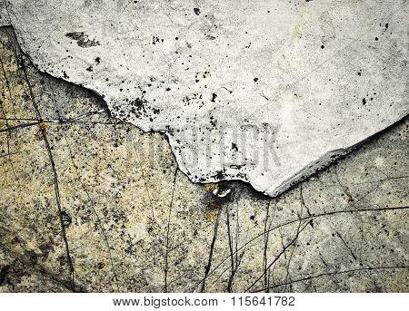 Two Shades Of Limestone Rocks