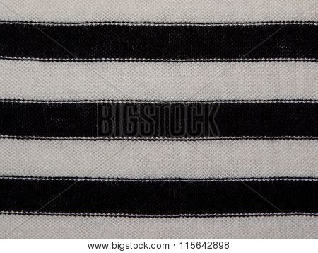 white fabric with black stripes