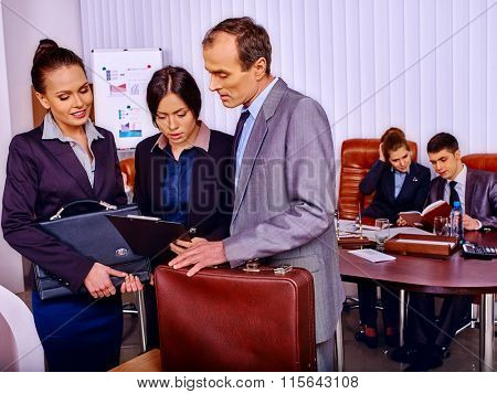Group business people hard working  in office.