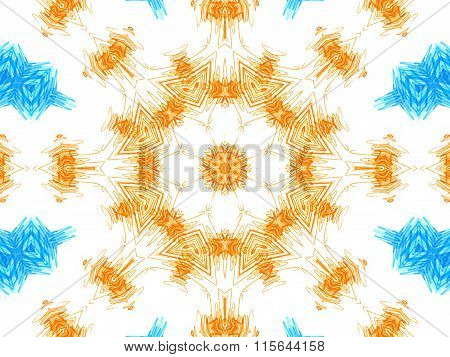 Abstract Color Concentric Pattern On White Background
