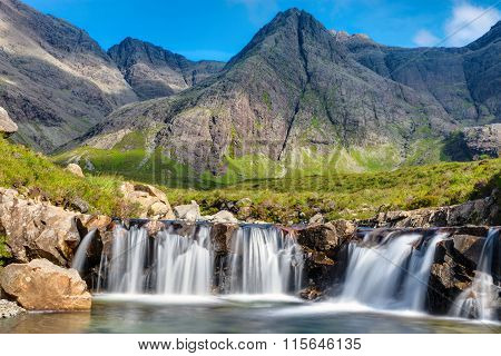 Small waterfall on the Isle of Skye