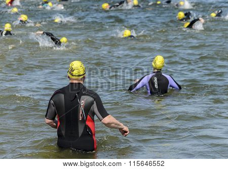 A charity swim