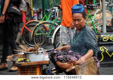 Street food seller in Malioboro street