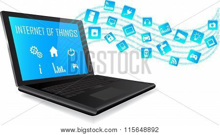 Laptop And Internet Of Things Concept