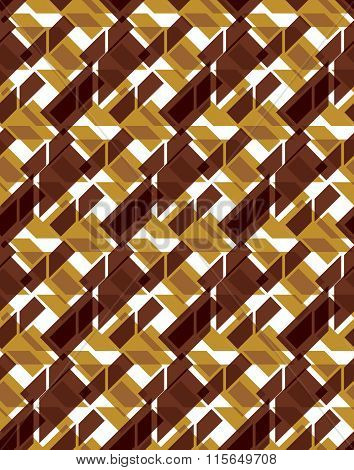 Bright Stylized Symmetric Endless Pattern, Transparent Continuous Creative Art Composition