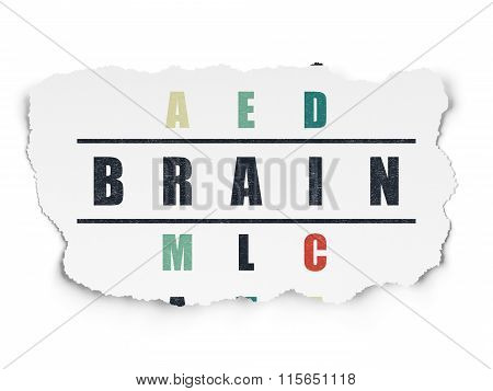 Medicine concept: Brain in Crossword Puzzle