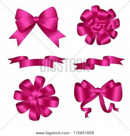 Bows And Ribbons Pink Set