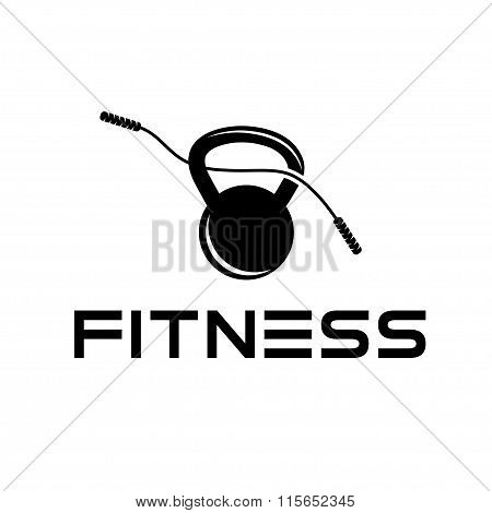 Skipping Rope And Kettlebell Vector Design Template