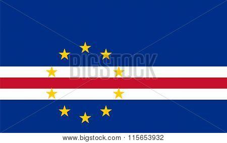 Standard Proportions For Cabo Verde Flag