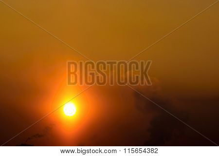 The Bright Winter Sun In A Smoky Bronze Firmament
