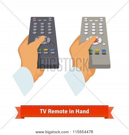 Retro remote control in hand