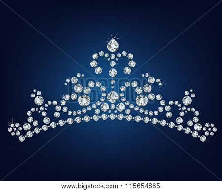 Diamond tiara made a lot of diamonds  - vector illustration