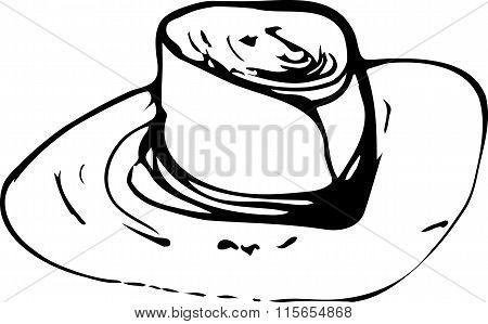 Vector Sketch Of A Man's Hatb
