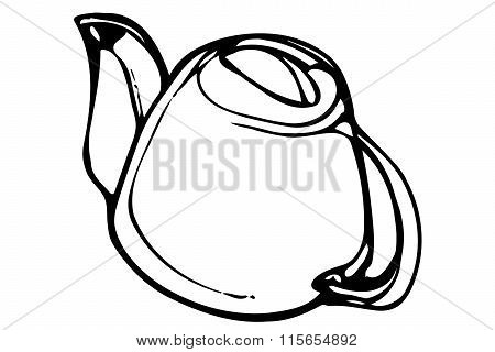 Vector Porcelain Teapot Teac
