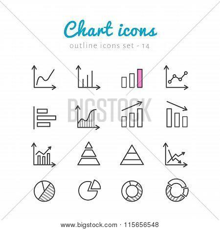 Chart icons set