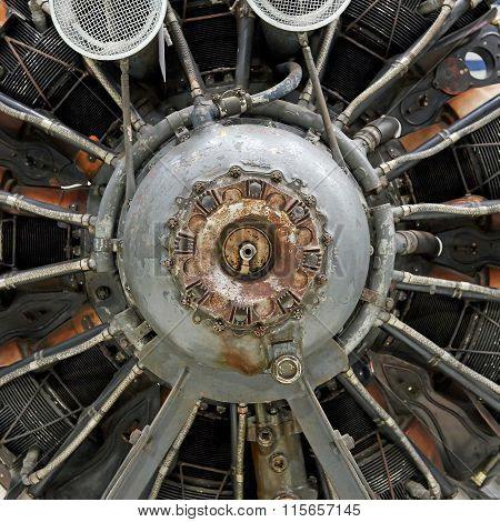 Old Airplane Star Engine