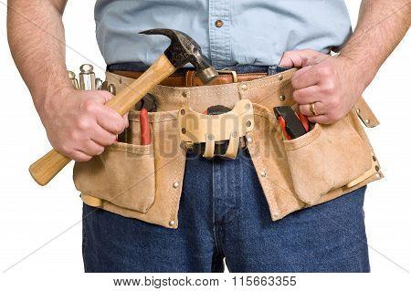 Tool Belt On Worker