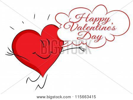 Red hearts. Valentine's day. Greeting Card. Vector