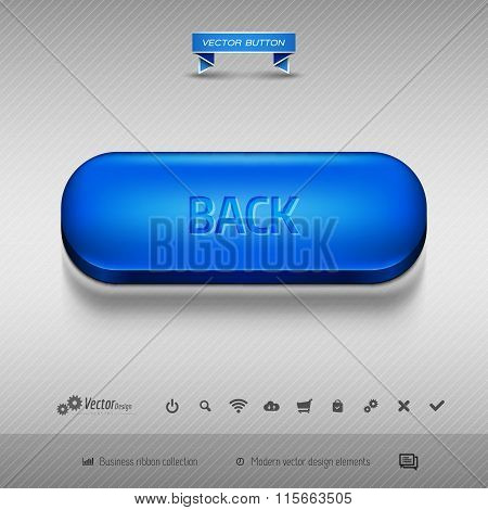 Vector Design Elements As Business Web Buttons For Website Or App