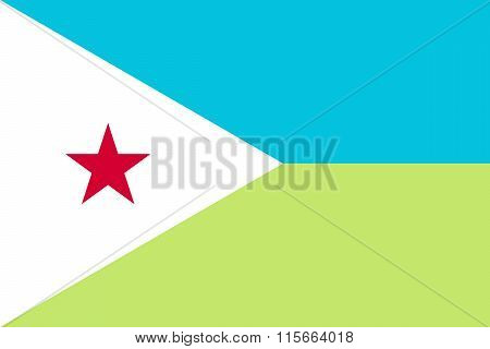 Standard Proportions For Djibouti Flag