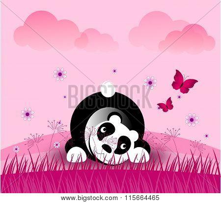 Romantic Panda Bear