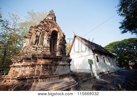 The Chedi Of Wat Jhet Yot Temple In Thailand.
