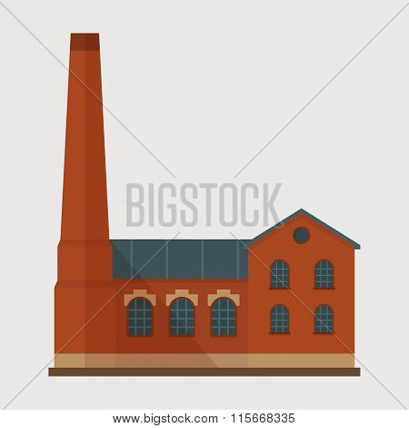 Factory vector flat illustration