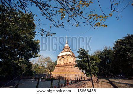 The Tilokarat Chedi Of Wat Jhet Yot Temple In Thailand.