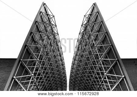 Facade of a metal structure