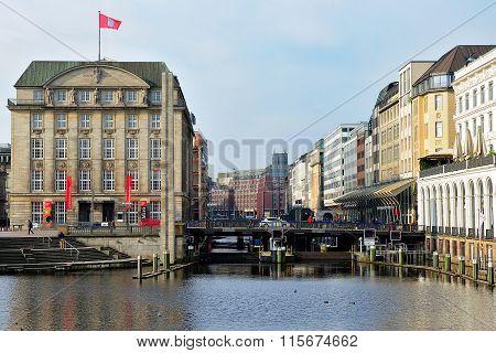 The Bridge Schleusenbrucke, Hamburg, Germany