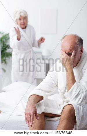 Retired Couple Having Conflict