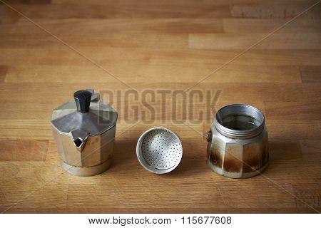 Unfolded Moka Pot