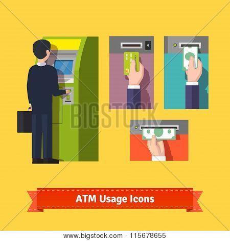 ATM machine deposit