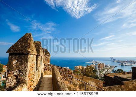 View of Malaga port, Spain